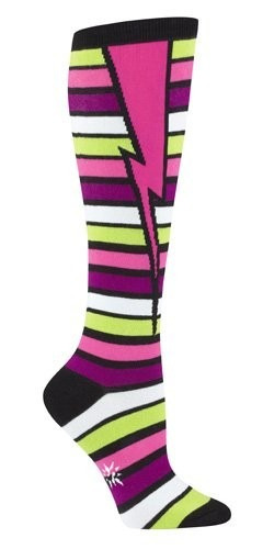 tb stripe bolt socks one size