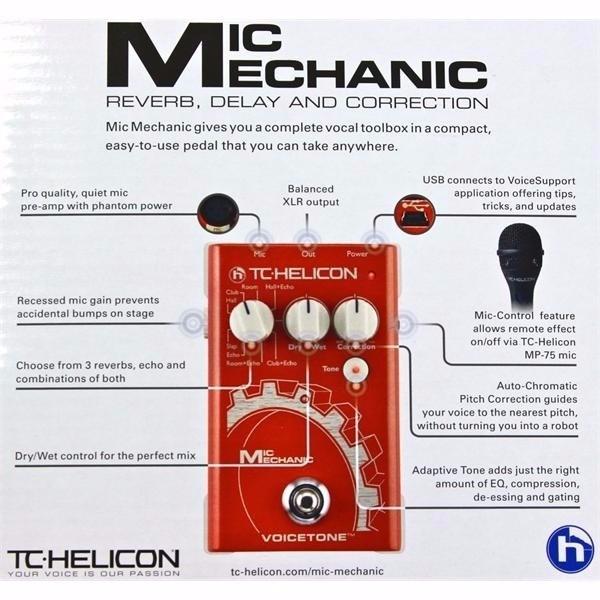 Bem Vindo A Marly: Tc Helicon Mic Mechanic Processador De Voz Pedal
