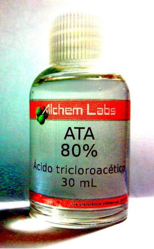 tca ata 80% - acido tricloroacético - 30 ml - único original