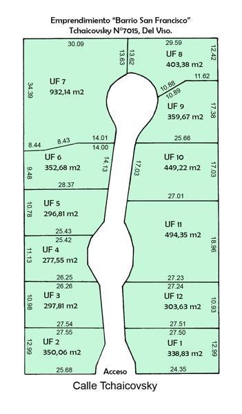 tchaicovsky 7000 - del viso, pilar - terrenos/fracciones/loteos terrenos - venta
