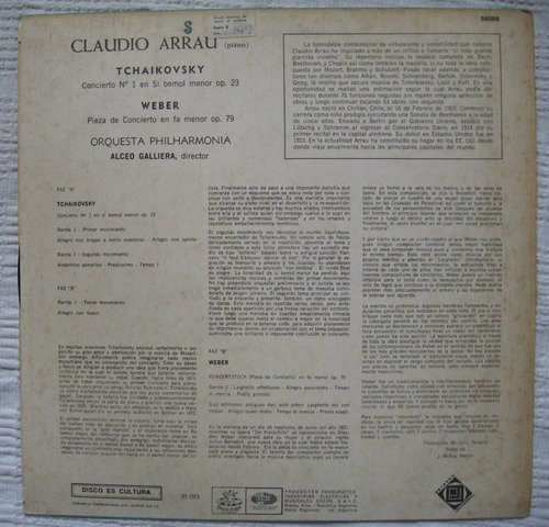 tchaikovsky - concierto nº 1 bb m op. 23. weber