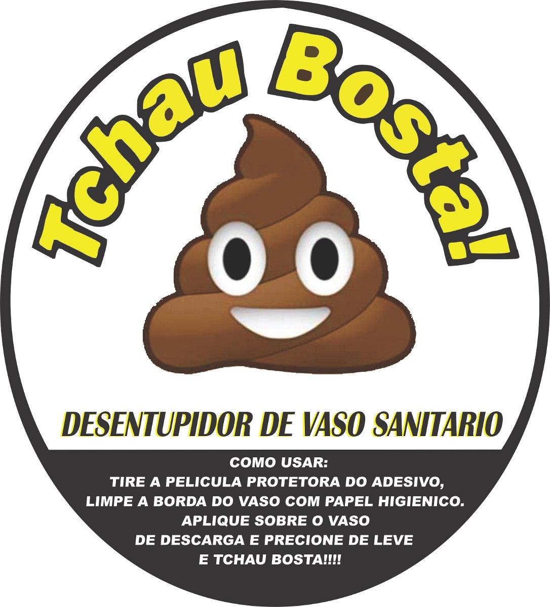 Armario Keter ~ Tchau Bosta Adesivo Desentupidor Vaso Sanitário R$ 25,27 em Mercado Livre