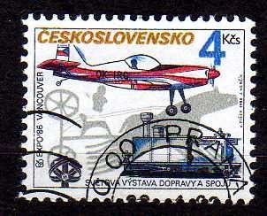 tchecoslováquia 1986 * avião z 50 l s * locomotiva