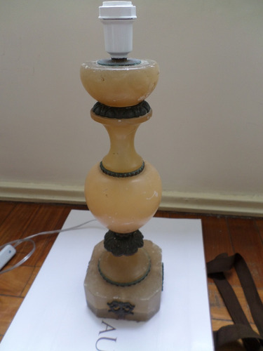 tck abajur antigo alabastro riquíssima lindíssima peça!!