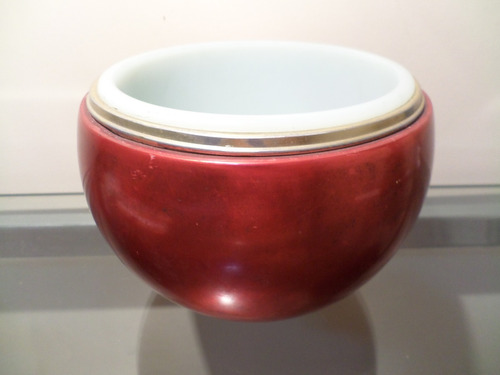 tck balde de gelo antigo anos  70 formato maça faltando peça