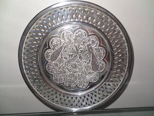 tck salva prato espessurado prata todo trabalhado riquíssimo