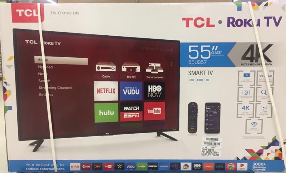 Tcl Con Roku Tv 55 4k Ultra Hd Pagos A Msi 1325000 En