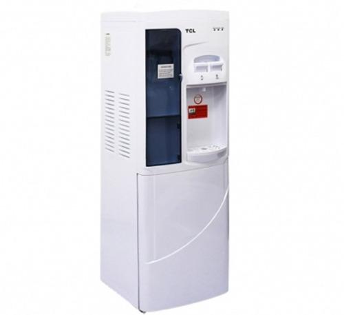 tcl dispensador de agua fria y caliente con porta vasos