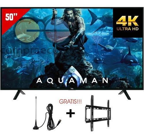 tcl televisor led 50¨ smart tv 4k wifi gratis antena soporte