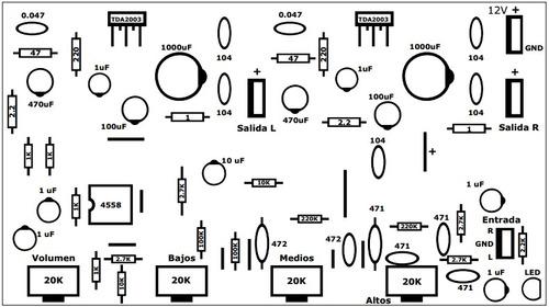 tda 2003 tda2003 10w rms - amplificador pack x 10 unidades