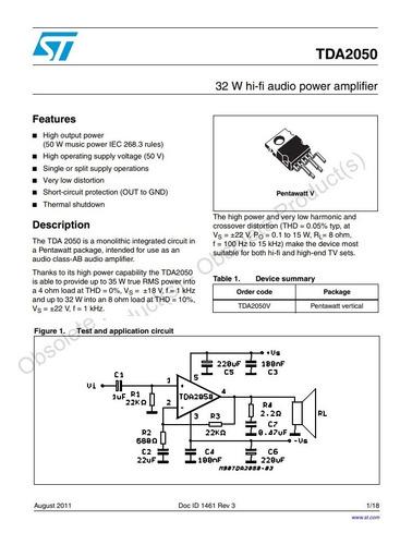 tda 2050 a tda2050 tda2050a amplificador nuevo original