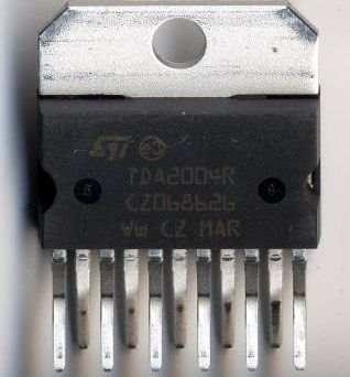 tda2004 circuito integrado salida audio