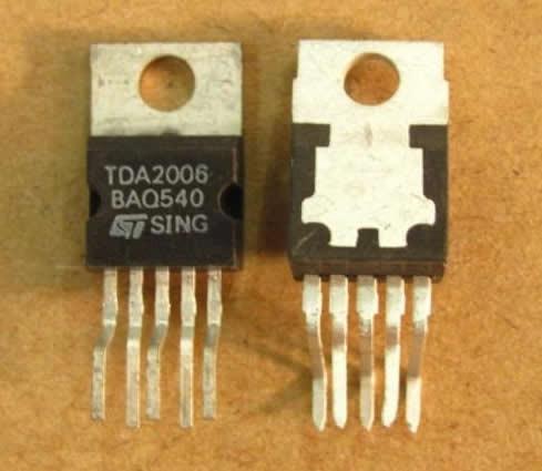 tda2006  amplificador 12w rms  hi-fi - simil tda2003 tda2030