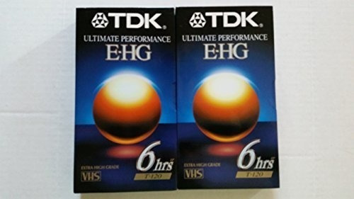 tdk ultimate performance e-hg cinta de video en blanco vhs .