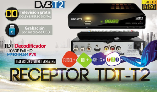 tdt full hd + antena + cable hdmi + rca + control + obsequio