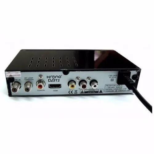 tdt2 decodificador receptor tv television digital terrestre