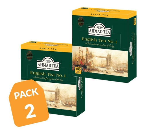 té ahmad english n° 1 100 bolsitas (pack 2)/ 200 bol.