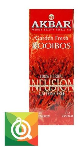té akbar tea pack 12 infusión rooibos 25 bolsitas /$1.890c/u