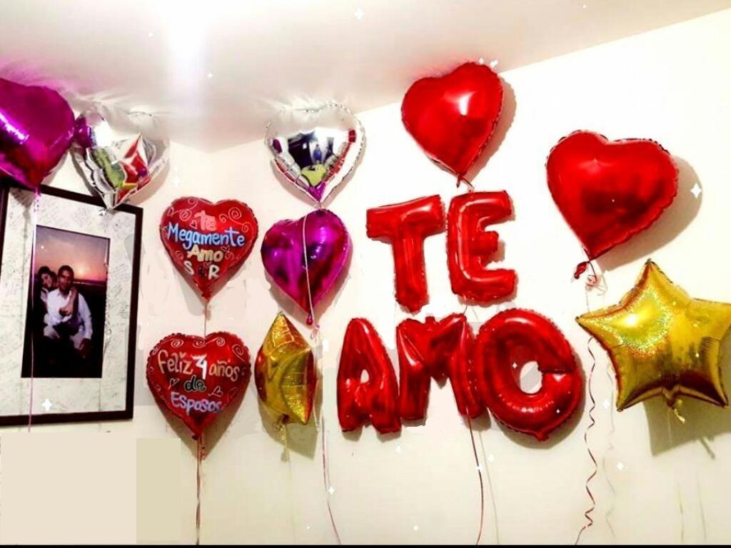 Te amo globos paquete 14 de febrero enamorados con env o for Habitacion 14 de febrero