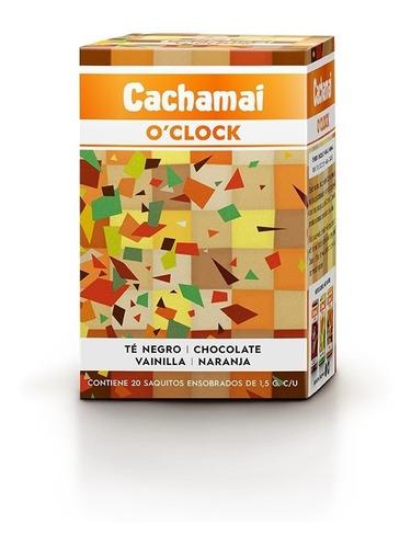 té cachamai o´clock té negro + chocol + vainilla + naranja
