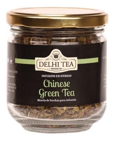 te hebras delhi tea premium frasco chinese green tea