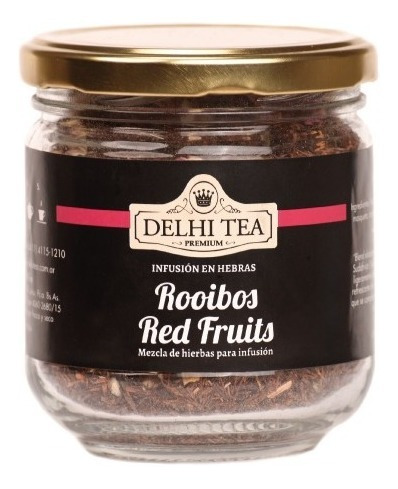 te hebras delhi tea premium frasco rooibos red fruits