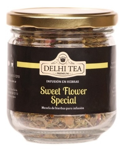 te hebras delhi tea premium frasco sweet flower