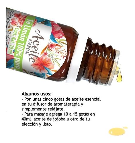te limón 10 ml aceite esencial 100% puro
