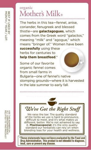 té mothers milk, promueve la producción de leche materna !!!