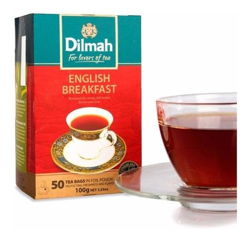 té negro dilmah english breakfast caja 6 unidades.