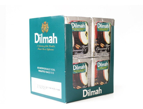 té negro dilmah manzana canela display 12 unidades.
