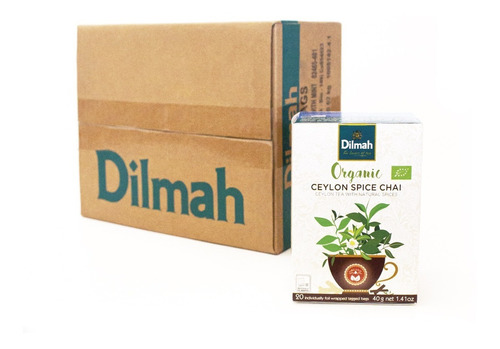 té orgánico dilmah spice chai caja 6 unidades.