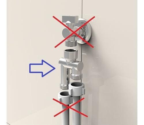 te p/ torneira máquina lavar 3/4 latão robusto - blukit