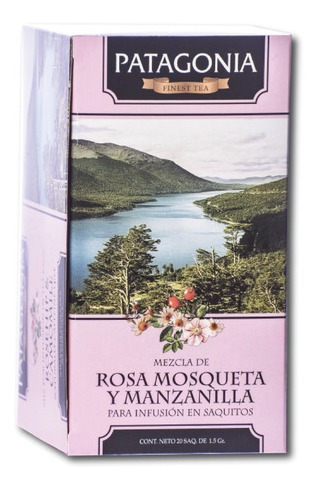 te patagonia premium x 20 saq. rosa mosqueta y manzanilla