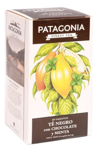 te patagonia premium x 20 saq. té negro chocolate menta