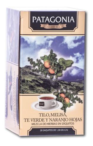 te patagonia premium x 20 saq. tilo té verde melisa