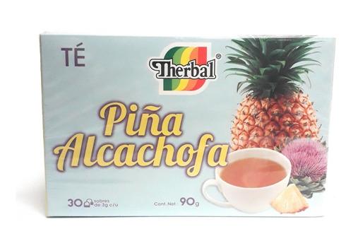 té piña alcachofa therbal 30 sobres (5 pzs) envio full