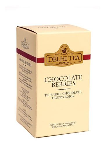 te premium delhi tea x 20 saq. chocolate berries