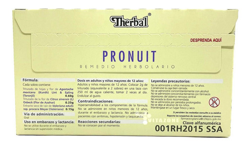 té pronuit 25 sobres therbal