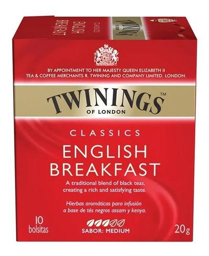 te twinings english breakfast cassics x10u x4 paquetes