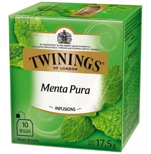 te twinings te ingles caja x 10 saquitos menta pura