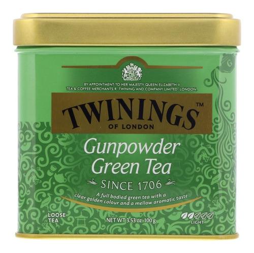 te twinings te ingles green tea gunpowder hebras lata 100gr