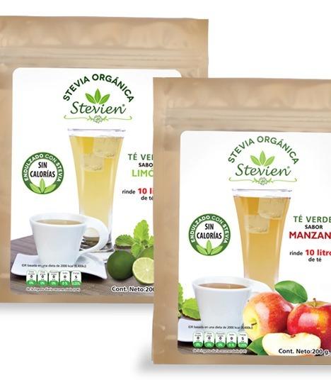 Té Verde En Polvo Endulzada Con Stevia Orgánica Sin Azúcar