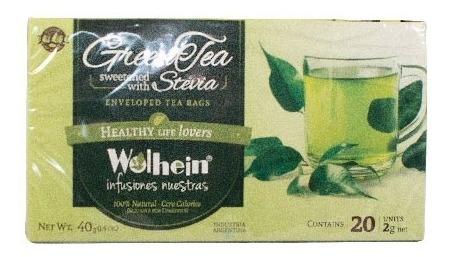 té verde endulzado con stevia  wolhein  infusiones nuestras
