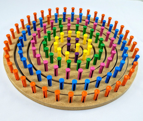 tear circular manual pino plástico 6 conjuntos agulha tricô