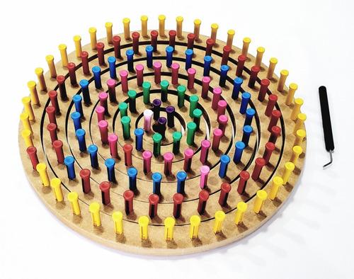 tear circular pino plástico 6 conjuntos + regulável 25 cm