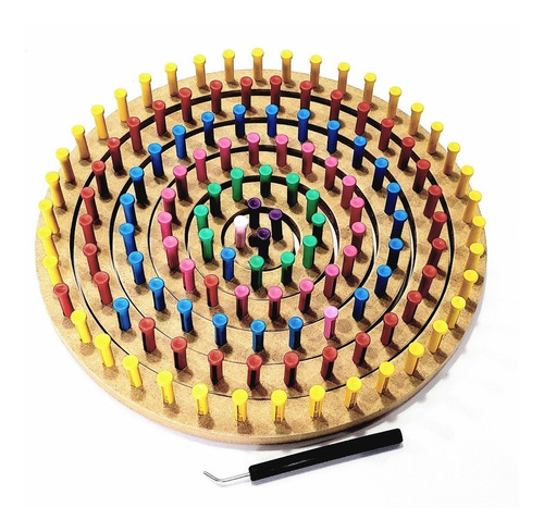tear circular pino plástico 6 peças + regulável 25 + 50 cm