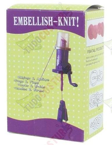 tear manivela cordões rabo gato lã crochê tricotin i-cord