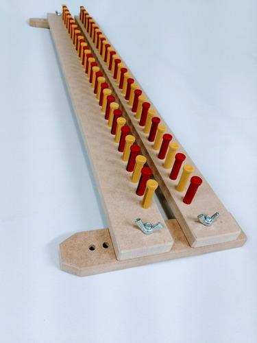 tear pino plástico 50 cm - regulável - brinde agulha - tricô