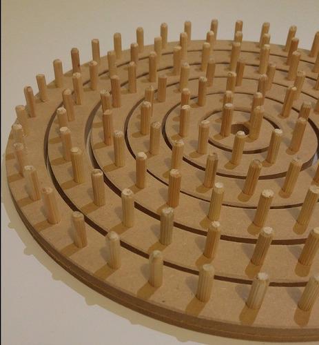 tear redondo circular pino - completo 6 conjuntos + agulha